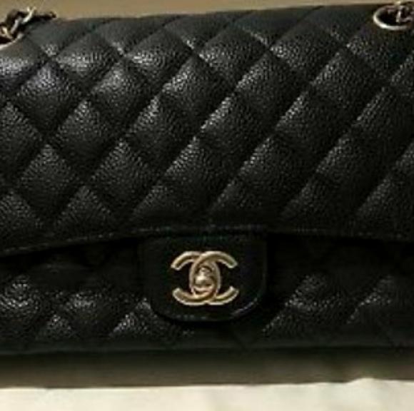 CHANEL Handbags - Authentic Vintage Chanel Black Cavier Bag fc52c5245a836